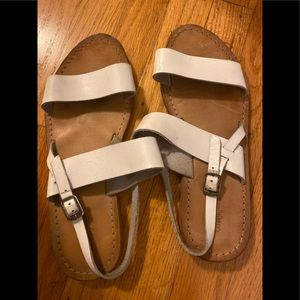White leather Urban Outfitters sandals